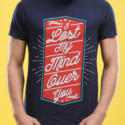 I've Lost My Mind, (Navy Blue) Matching Couple Tees