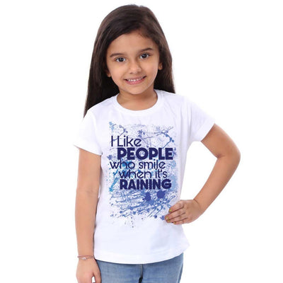 I Like People Who Smiling When Its Raining  Family Tees