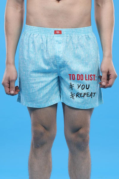 To Do List, Matching Couple Boxers