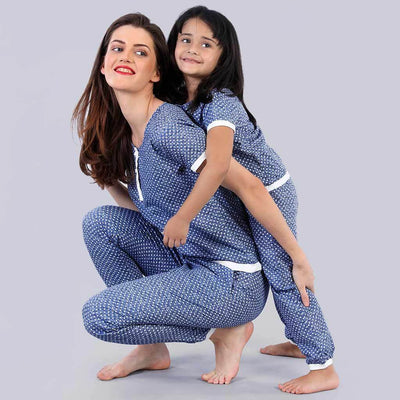 Dotty And Naughty Matching Sleep Wear For Mom And Daughter