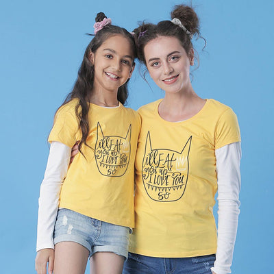 I'll Eat You Up Mom & Daughter Tees