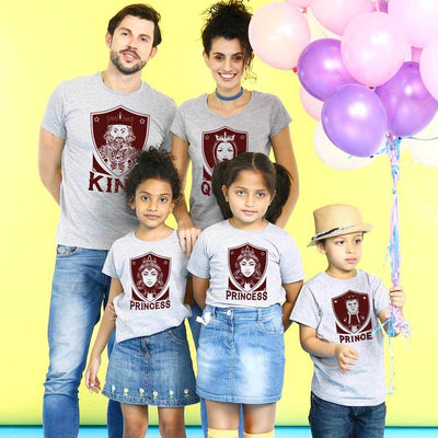 King Queen Prince Princess Family Tees