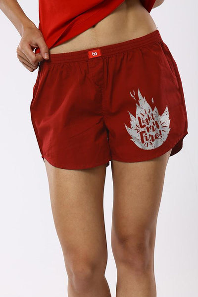 Light My Fire Matching Cotton Couple Boxers
