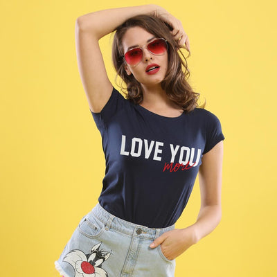 Love You The Most,(Navy Blue) Matching Couple Tees