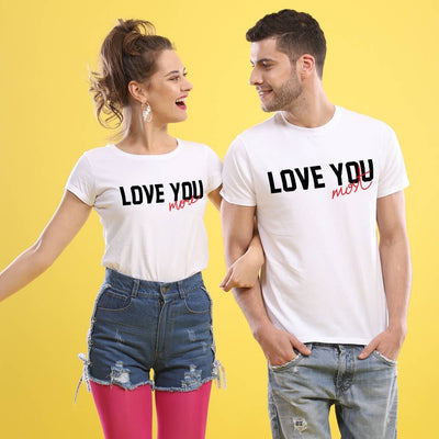 Love You The Most,(White) Matching Couple Tees