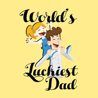 World's Luckiest Dad & Daughter Tshirt