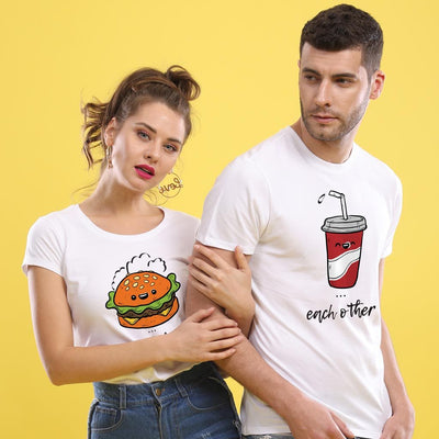 The Cola To My Burger, Matching Couple Tees