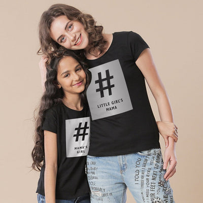 Little Girl and Mom,Mom And Daughter Tees