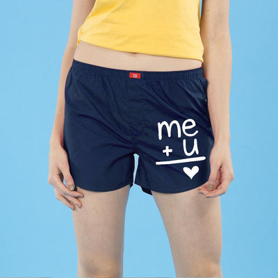 Me+U,  Matching Navy Blue Couple Boxers