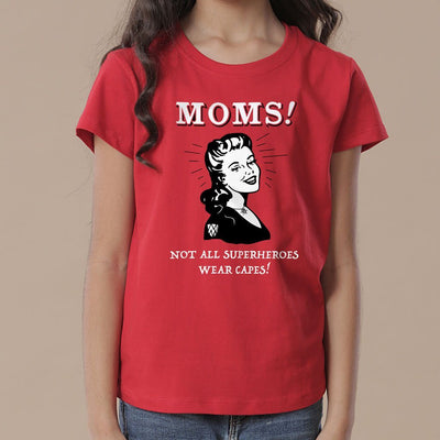 Mom Superhero Mom Daughter Tees