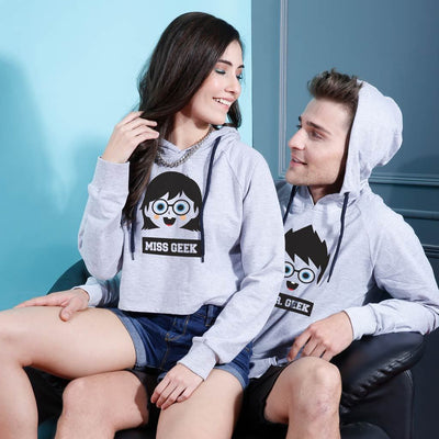 Mr./ Mrs. Geek, Matching Hoodie For Men And Crop Hoodie For Women
