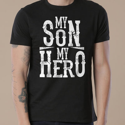 Black My Son/Dad My Hero Father-Son Tees