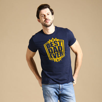Navy Best Dad Ever Father-Son Tees