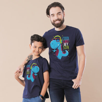 Navy Cool Like My Son/ Dad Father-Son Tees