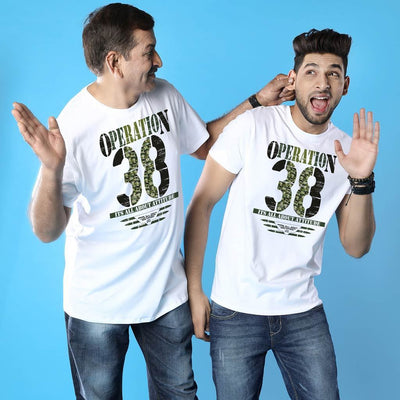Operation 38 Dad And Son Matching Adult Tees