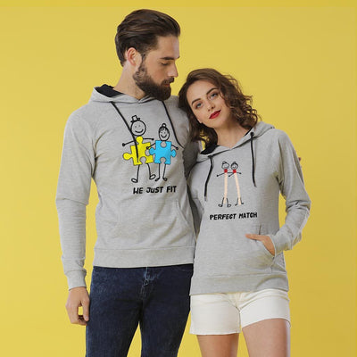 Perfect Match, Matching Hoodies Set For Couples