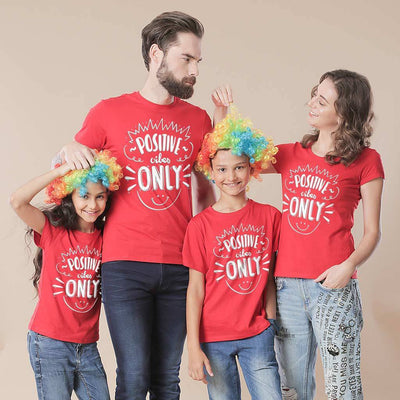 Positive Vibes Only Family Tees