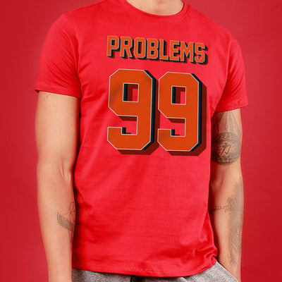 Problems Ninty Nine / Ain't one, Matching Couple Crop Top And Tee