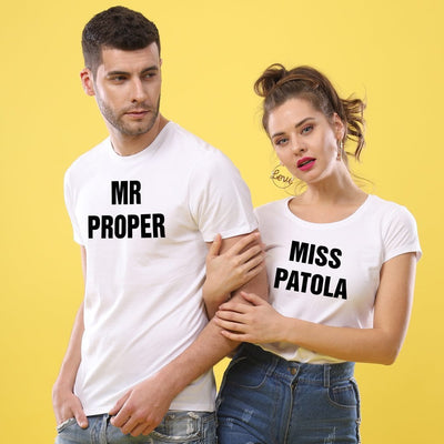 Mr Proper-Miss Patola, Matching Tees For Couples