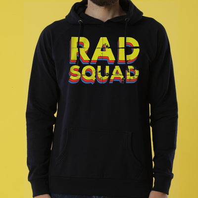 Rad Squad! Matching Black Hoodies For Couples