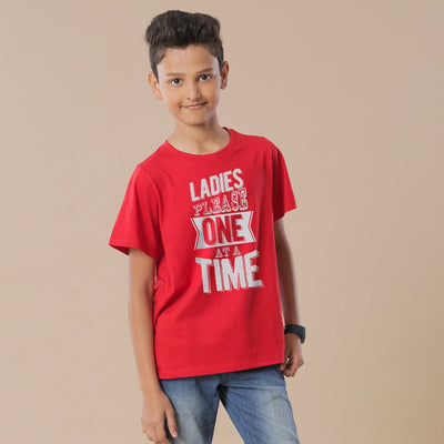 Red Ladies One At A Time Father-Son Tees