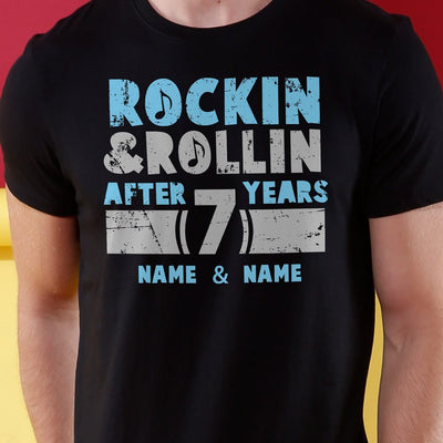 Rocking And Rolling, Matching Customisable Couples Crop top & Tee