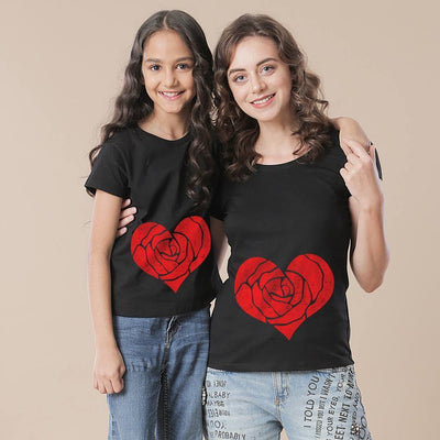 Rose Heart Mom & Daughter Tees