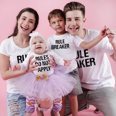 Rules, Matching Tees And Bodysuit For The Family