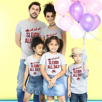 Sleigh All Day Family Tees