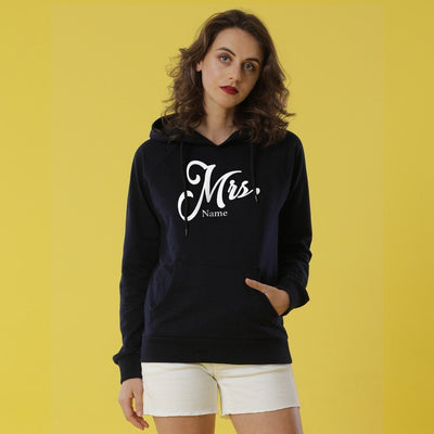 The Mr And Mrs Personalised Black Hoodies For Couples