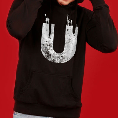 Us (Black) Matching Hoodie For Men And Crop Hoodie For Women