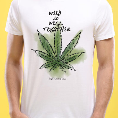 Weed Go Well Together, Matching Couple Tees