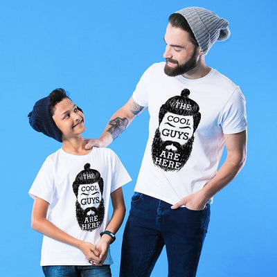 White Cool Guys Father-Son Tees