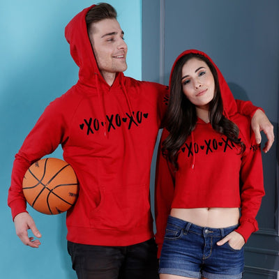 XOXO, Matching Hoodie For Men And Crop Hoodie For Women