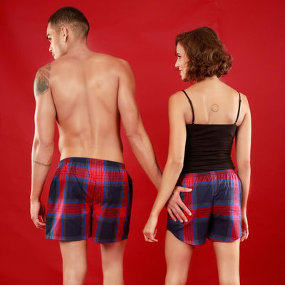 Beauty And Beast, Matching Check Couple Boxers