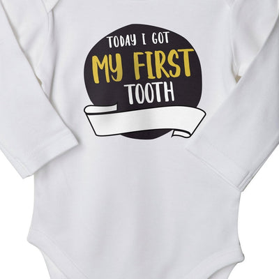 My First Tooth (White), Bodysuit For Baby