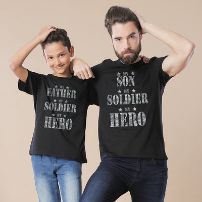 My Soldier My Hero Dad And Son T-Shirt