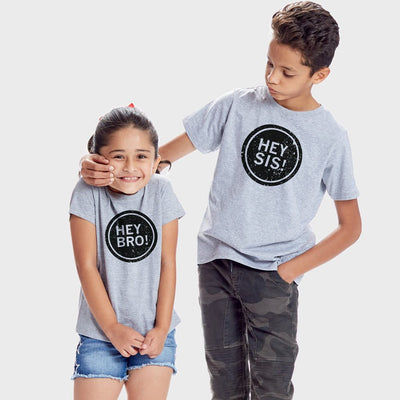 Hey Sis-Hey Bro,Matching Tees For Brother And Sister