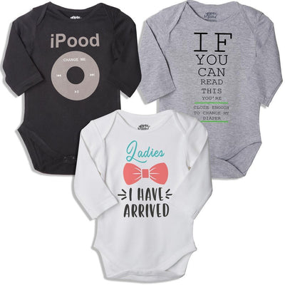 I pood, Set Of 3 Bodysuits For The Baby