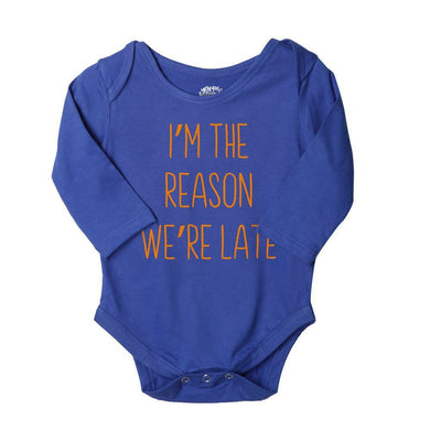 I'm The Reason We Are Late, Set Of 3 Assorted Bodysuits