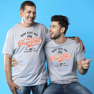 Stay Humble, Dad And Son Matching Adult Tees