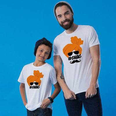 Marathi Swag, Matching Regional Tees For Dad And Son