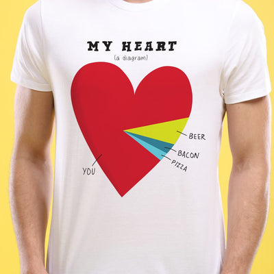 My Hearts,Pie Chart ,Matching Couple Tees