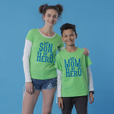 My Hero, Mom And Son Matching Tees