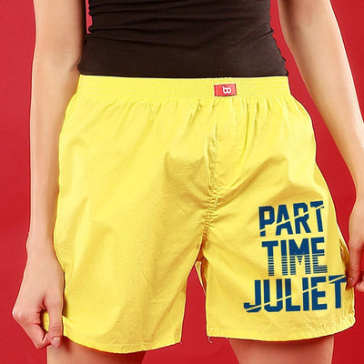 Part Time Romeo / Juliet, Matching Yellow Couple Boxers