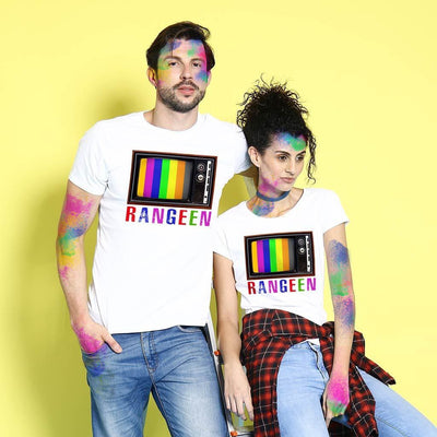 Rangeen, Matching Holi Tees For Couples