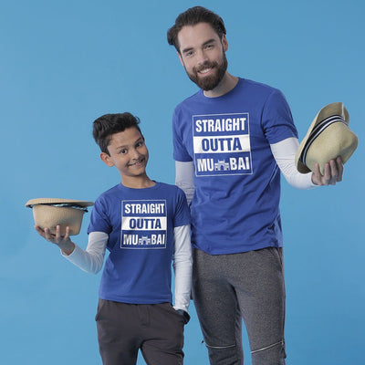 Straight Out Of Mumbai, Matching Regional Tees For Dad And Son