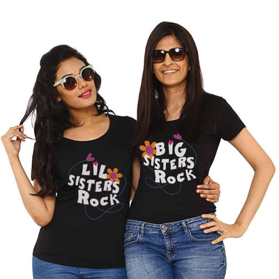T-Shirt - Big/Lil Sisters Rock Tees