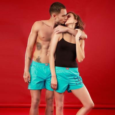 Truely Madly Deeply, Matching Turquoise Couple Boxers