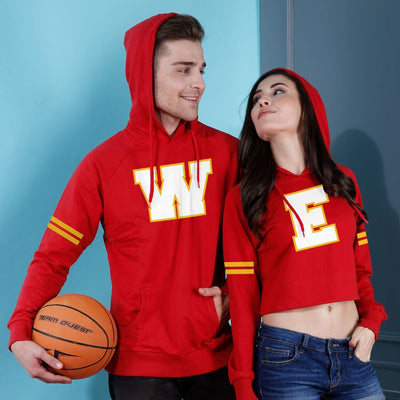We, Matching Hoodie For Men And Crop Hoodie For Women